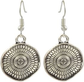 High Trendz Silver German silver Daily - Set of Oxidised Drop earring