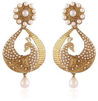 Etnico White Earrings