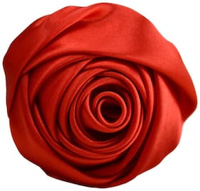 (JB023) Men's & Women's Brooches Rose Lapel Pin for Wedding & Boutonniere Satin