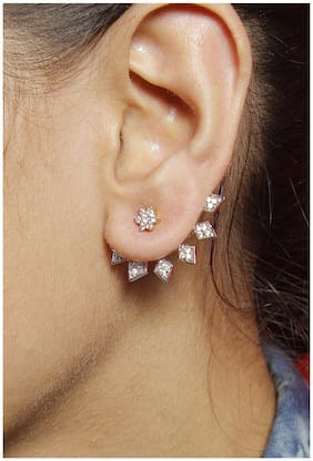 JDX American Diamond Earcuffs for Gilrs and Women