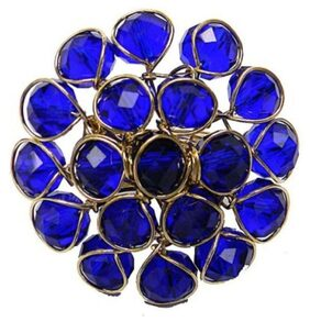 JDX Blue Crystal Ring for Women and Girls