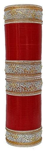 Jdx Red Bridal Wedding Chuda Bangle For Women