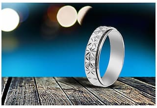 JDX Silver Plated Metal Shining Ring