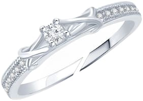Jewellery For Women Silver Platinum Plated Thin Ring Adjustable Finger Ring For Girls & Women's (Free Size)
