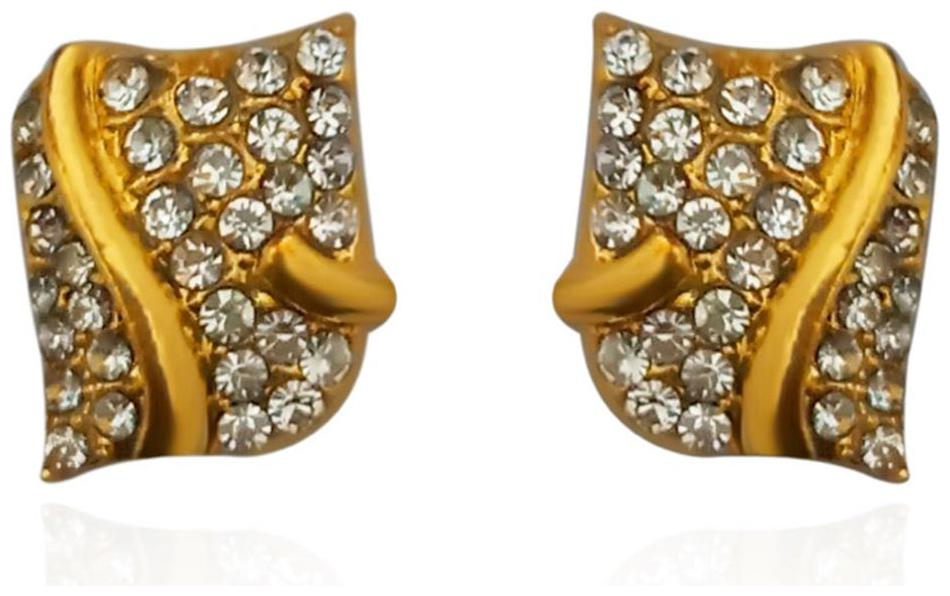 JewelMaze Gold Plated Austrian Stone Stud Earrings Alloy Stud Earring