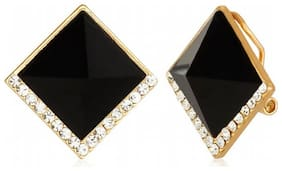 Jewels Galaxy Black Luxuria Designer Earring Limited Collection Workwear
