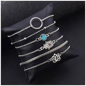 Jewels Galaxy Fascinating Floral Buddha Hand Multi Designs Elegant Bracelets For Women/Girls
