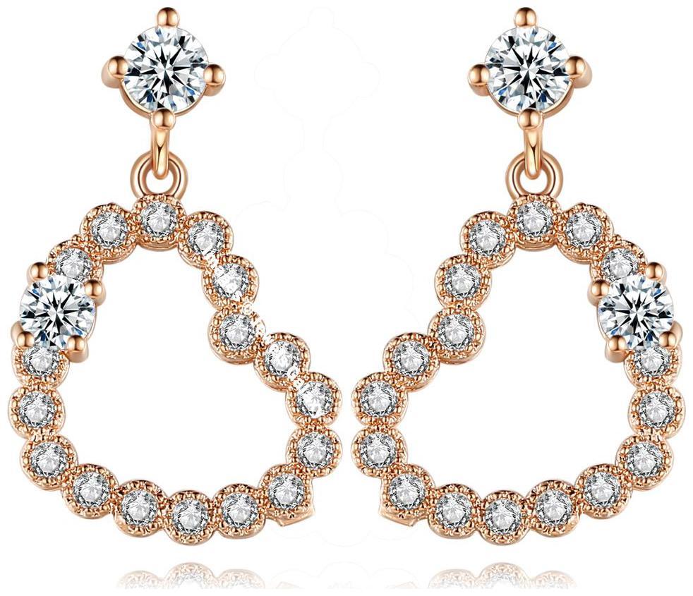 Jewels Galaxy Luxuria Edition Sparkling AAA Zircon Splendid Pair Of Opal Dangler Earrings For Women/Girls