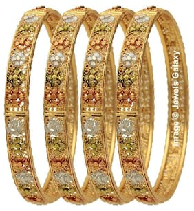 Jewels Galaxy Exclusive Elegant Floral Designer Stunning Multicolor Bangles Collection - Set of 4