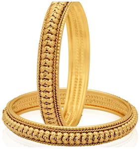 Jewels Galaxy Trendy Gold Plated Bangles
