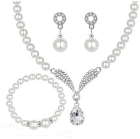 Copper White Collar Jewellery Set