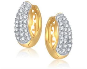 Jewels Galaxy White American Diamond Earrings