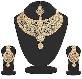 Jewels Kafe Gold Alloy Festive Wear & Party Wear Choker Necklace
