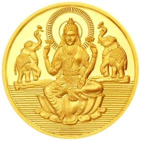 Sri Jagdamba Pearls 1 Gram 22Kt 916  Purity Laxmi Gold Coin