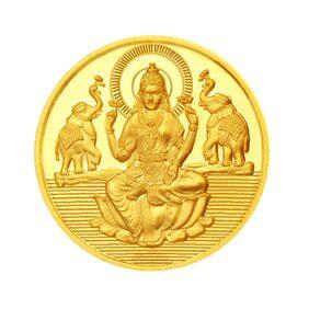 Sri Jagdamba Pearls 2 Gram 24Kt 999 Purity Laxmi Gold Coin