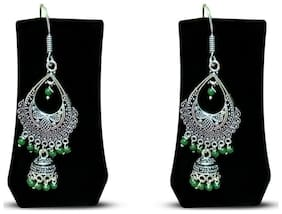 KAIYNAT SILVER OXIDISED NEW FANCY DESIGNER EARRINGS FOR GIRLS