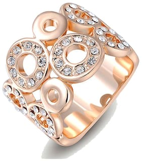 Kaizer Jewelry Gold Alloy Ring (Size-6)