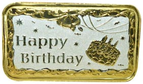 Kataria Jewellers Happy Birthday 10 g Silver Bar Coin in 999 Purity Hallmarked Silver in Rhodium Polish With Gift Box