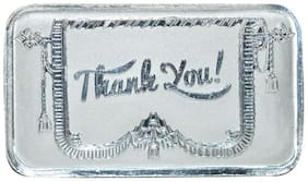 Kataria Jewellers Thank You 10 g Silver Coin in 999 Purity BIS Hallmarked Silver