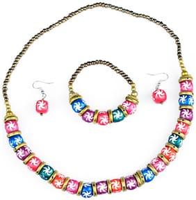 Terracotta Multi Colored Antique Necklace