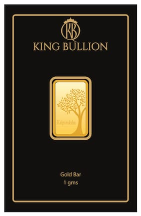 KING BULLION 1 gm 24 K 999 Premium Precious Gold Bar
