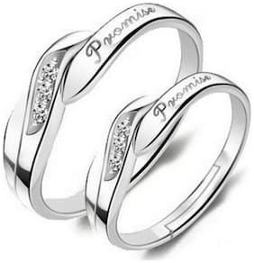 King & Queen Valentine Promise Couple Ring ( Adjustable )