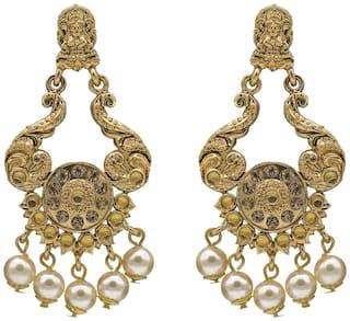 Buy Kiyara Accessories fashion jewellery gold alloy temple