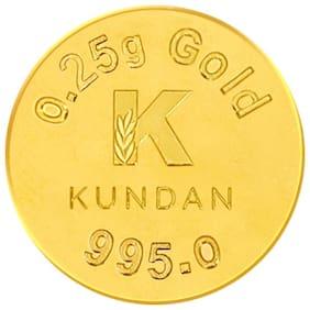 Kundan 0.25g Gold Coin 24kt (995)