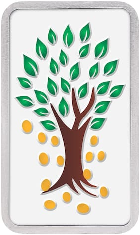 Kundan 10g Kalpataru Tree - Silver Colour Bar