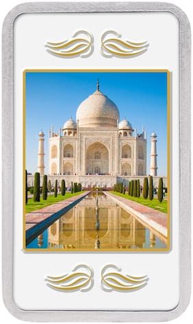 Kundan 20g 999 Silver Colour Bar - Taj Mahal