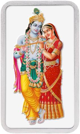 Kundan 50g 999 Silver Colour Bar - Radha Krishna