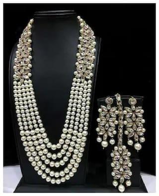 TAHIRA FASHION Assorted Beads Bridal Wear & Festive Wear Kundan Necklace