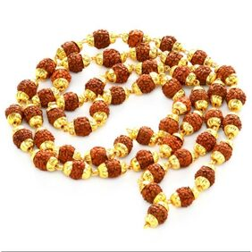 Genset Power Golden Snake Brass Rudraksha Locket