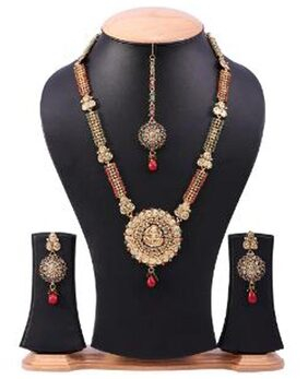 long rani haar necklace with laxmi pendal