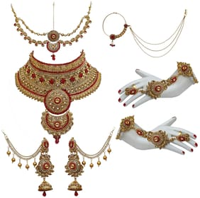 Lucky Jewellery Alloy Bridal Set For Women