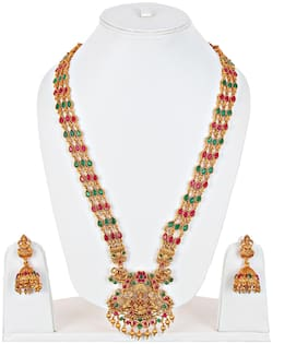 Lucky Jewellery Alloy Earring & Necklace Set For Women