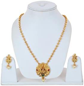 Lucky Jewellery Alloy Earring & Pendant Set For Women