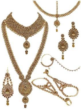 Alloy Gold Kundan Necklace Set