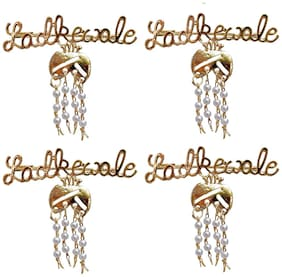 Lucky Jewellery Trendy Ladkewale Gold Plated Wedding Brouch/Brooch Pin Pack Of 4 For Men & Women