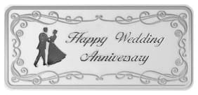 Maa Silver Happy Marriage Anniversary 10g Fine Silver Bar with 999 Purity
