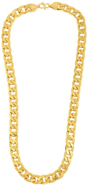 Maalgodam Heavy Gold Plated 22 Inches Designer Trendy Brass Sehwag Chain
