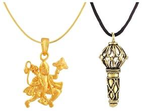 Mahi Combo Of Mighty Hanuman Pendant For Women And Men Co1104335G