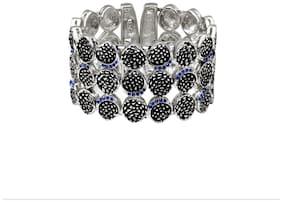 Blue;Black;Silver Alloy;Brass Bangle