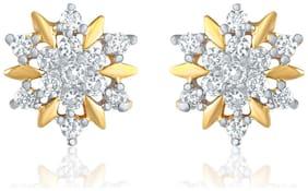 Mahi Gold-Plated Stud Earings For Women ER1109175G