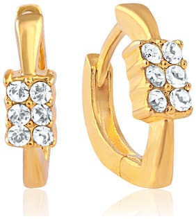 Mahi Gold plated Festive Jewelry Lush Shine Earrings With Crystal For Women Er1100224G