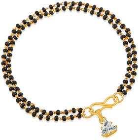 Black;Gold Alloy Bracelet