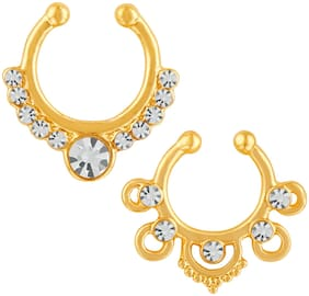 Gold Alloy Nose Ring