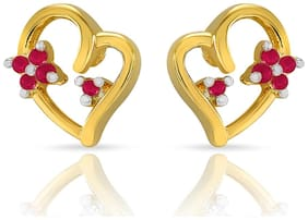 Mahi Christmas Special Gold plated Festive Jewelry Chirpy Cupid Earirngs With Ruby For Women Er1103812Gred