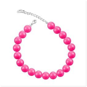 Pink Alloy Cuff Bracelet