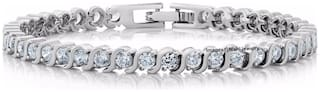 Mahi Valentines Special Mystic Tennis Bracelet with Crystal Stones BR1100296R